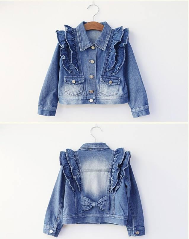 jacheta cocheta din jeans cu fundita model fiesta ヅ maia boutique